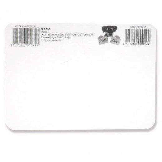 エッフェル塔 ポストカード (Souvenir de paris)キラキラ加工付き【画像10】