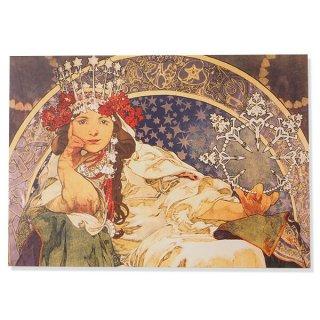 フレンチポストカード アルフォンス・ミュシャ( ヒヤシンス姫 Priness Hyacinth,1911)