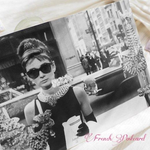 フレンチ ポストカード オードリー・ヘップバーン ティファニーで朝食を D (Audrey Hepburn)【画像2】