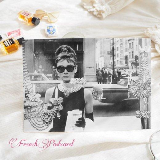 フレンチ ポストカード オードリー・ヘップバーン ティファニーで朝食を D (Audrey Hepburn)【画像3】