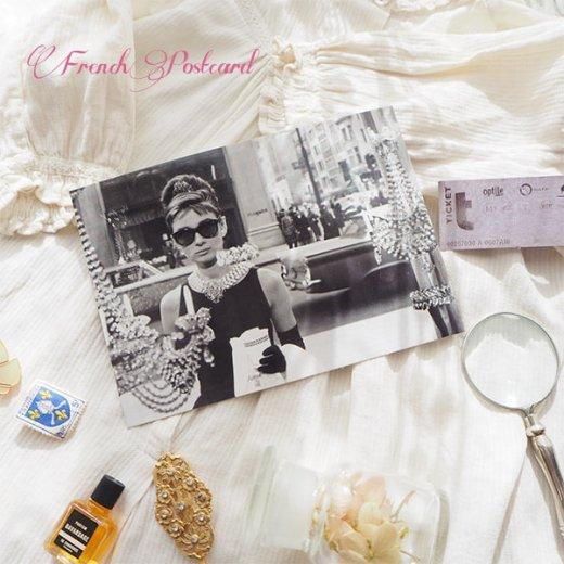 フレンチ ポストカード オードリー・ヘップバーン ティファニーで朝食を D (Audrey Hepburn)【画像4】
