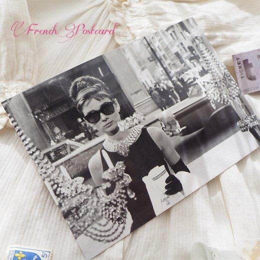 フレンチ ポストカード オードリー・ヘップバーン ティファニーで朝食を D (Audrey Hepburn)【画像5】