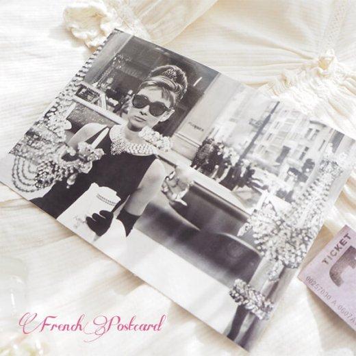 フレンチ ポストカード オードリー・ヘップバーン ティファニーで朝食を D (Audrey Hepburn)【画像8】