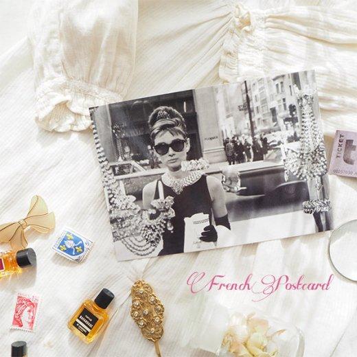 フレンチ ポストカード オードリー・ヘップバーン ティファニーで朝食を D (Audrey Hepburn)【画像9】
