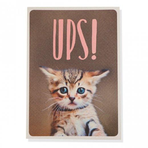 ネコ ポストカード (UPS!)