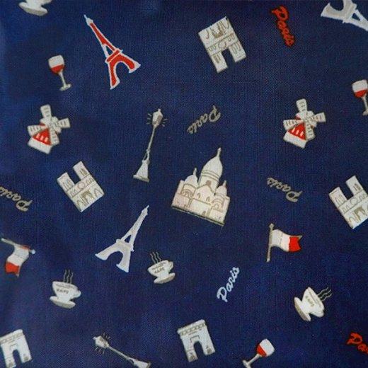 【フランス直輸入!】 MONOPRIX モノプリ エコバッグ【ブルー パリ・エッフェル塔 ノートルダム大聖堂 ムーラン・ルージュ 国旗】 【画像7】