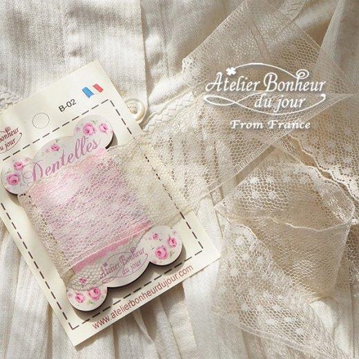 【糸巻き】フランス輸入ボタン アトリエ・ボヌール・ドゥ・ジュール【ピンク 糸巻き バラ Dentelles】【画像6】