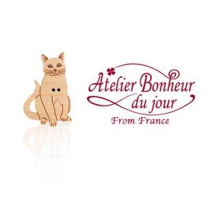 フランス輸入ボタン アトリエ・ボヌール・ドゥ・ジュール【猫・キャット F】