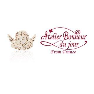 フランス輸入ボタン アトリエ・ボヌール・ドゥ・ジュール【天使 Mサイズ】