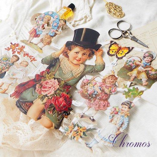 ドイツ クロモス【M】<幼子 バラ 花かご 幸せを呼ぶ 馬の蹄 蹄鉄> 【画像2】