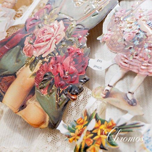 ドイツ クロモス【M】<幼子 バラ 花かご 幸せを呼ぶ 馬の蹄 蹄鉄> 【画像3】