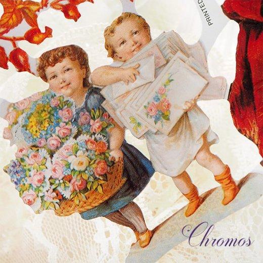 ドイツ クロモス【M】<幼子 バラ 花かご 幸せを呼ぶ 馬の蹄 蹄鉄> 【画像4】