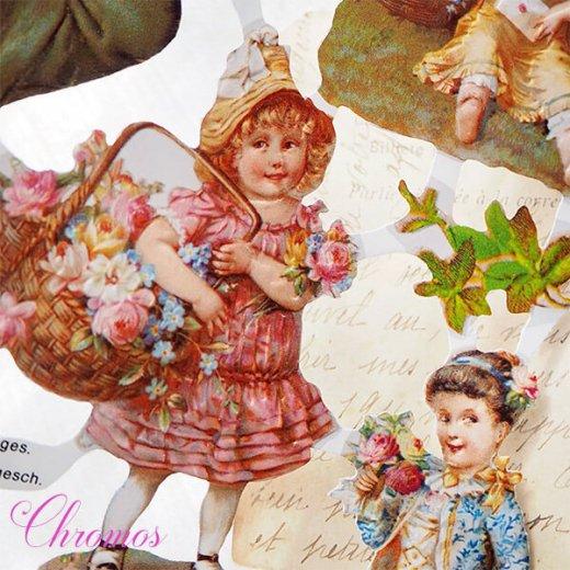 ドイツ クロモス【M】<幼子 バラ 花かご 幸せを呼ぶ 馬の蹄 蹄鉄> 【画像6】