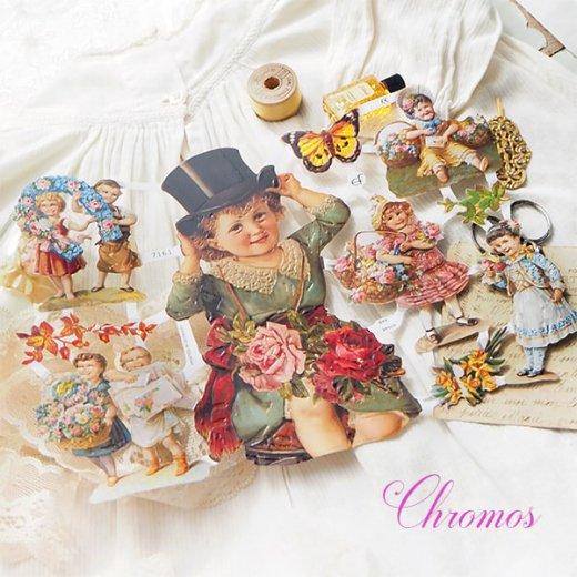 ドイツ クロモス【M】<幼子 バラ 花かご 幸せを呼ぶ 馬の蹄 蹄鉄> 【画像7】