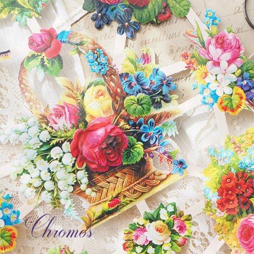 ドイツ クロモス【M】<クラシック バラ すみれ 忘れな草 すずらん 花束  >【画像3】