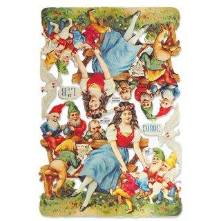 ドイツ クロモス【M】<白雪姫 七人のこびと うさぎ 小鳥 幸せの白い鳩 童話>