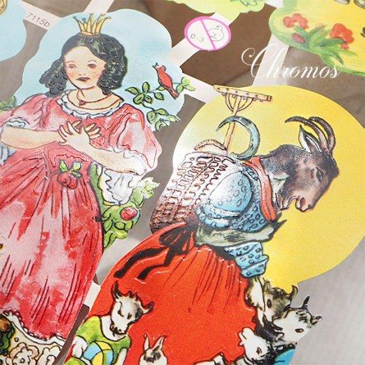 ドイツ クロモス【M】<童話 フェアリーテイル 星の銀貨 灰かぶり姫 おやゆび姫 カエルの王様 オオカミと七匹の子ヤギ>【画像2】