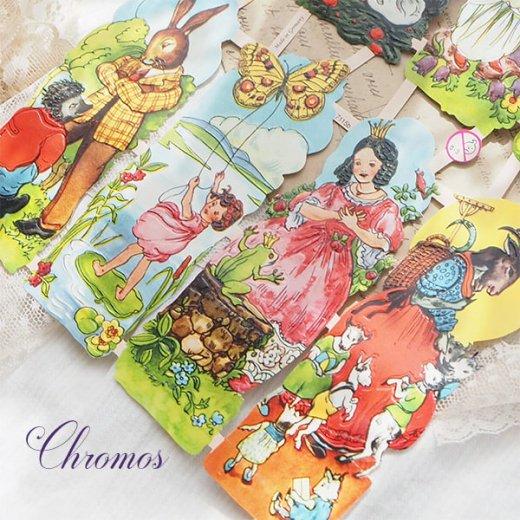 ドイツ クロモス【M】<童話 フェアリーテイル 星の銀貨 灰かぶり姫 おやゆび姫 カエルの王様 オオカミと七匹の子ヤギ>【画像5】