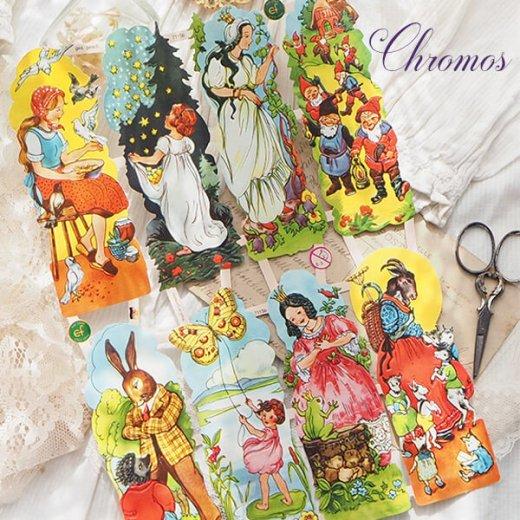 ドイツ クロモス【M】<童話 フェアリーテイル 星の銀貨 灰かぶり姫 おやゆび姫 カエルの王様 オオカミと七匹の子ヤギ>【画像6】
