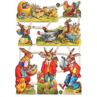 ドイツ クロモス【M】<イースターラビット 復活祭 ひよこ 馬車 イースターエッグ>