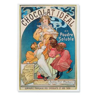 フレンチポストカード アルフォンス・ミュシャ(1897年  ショコラ・イデアルChocolat Idéal)