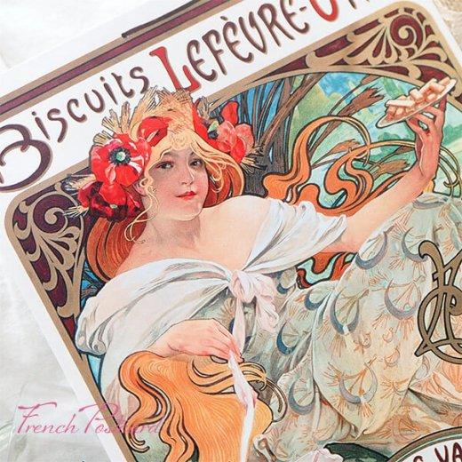 フレンチポストカード アルフォンス・ミュシャ(1896年  LU ビスケット 広告画Lefèvre-Utile )【画像8】