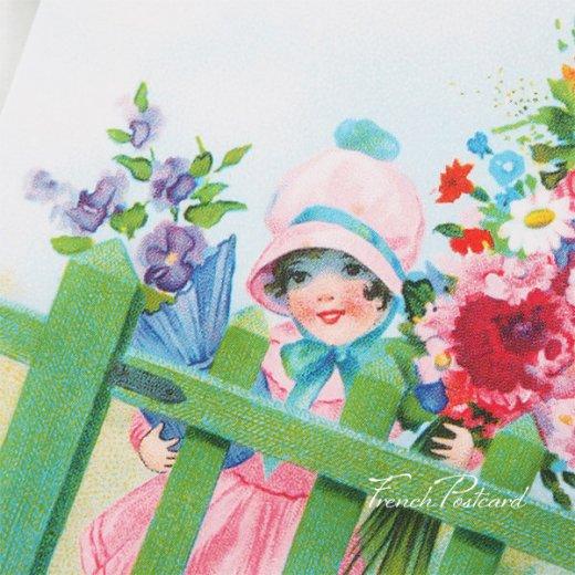 フランス ポストカード ローズ バラ(訪問 花束 春の訪れ Bienvenue G)【画像7】