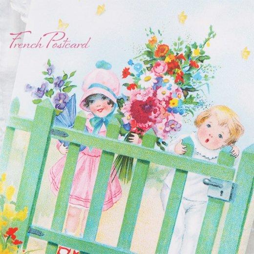 フランス ポストカード ローズ バラ(訪問 花束 春の訪れ Bienvenue G)【画像8】