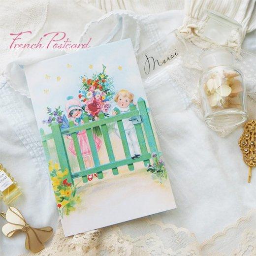 フランス ポストカード ローズ バラ(訪問 花束 春の訪れ Bienvenue G)【画像9】