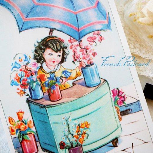 フランス ポストカード お花売り(記念日お祝い 母の日 Bonne fete F)【画像2】