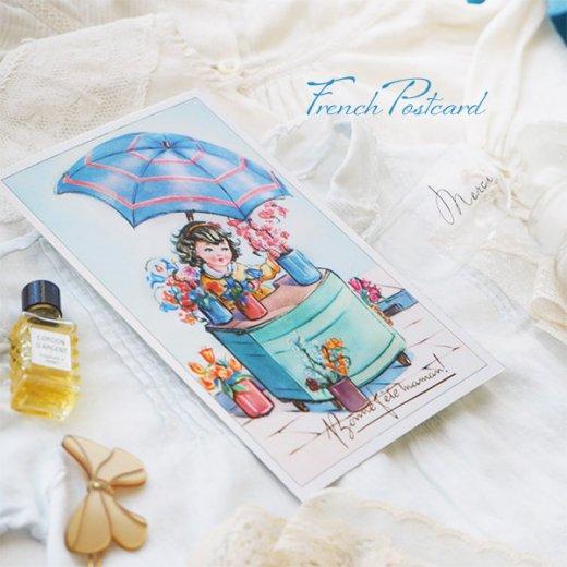 フランス ポストカード お花売り(記念日お祝い 母の日 Bonne fete F)【画像5】