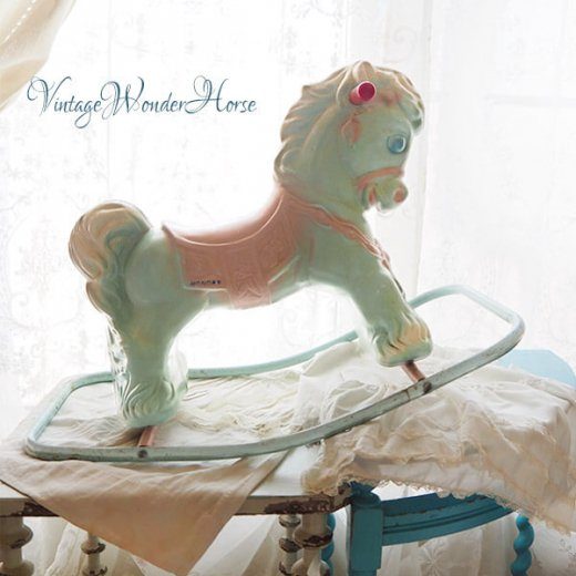 【送料無料 希少】1950~60年代 USA ヴィンテージ ワンダーホース(木馬 Wonder Horse ロッキングポニー)【画像6】