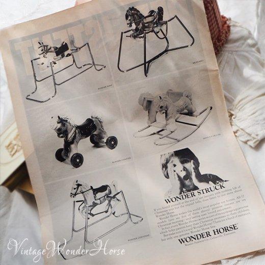 【送料無料 希少】1950~60年代 USA ヴィンテージ ワンダーホース(木馬 Wonder Horse ロッキングポニー)【画像7】