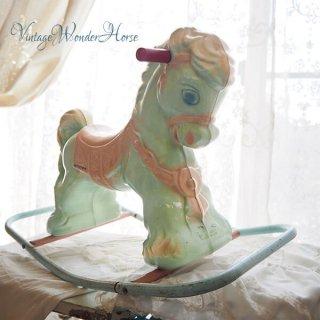 【送料無料 希少】1950~60年代 USA ヴィンテージ ワンダーホース(木馬 Wonder Horse ロッキングポニー)