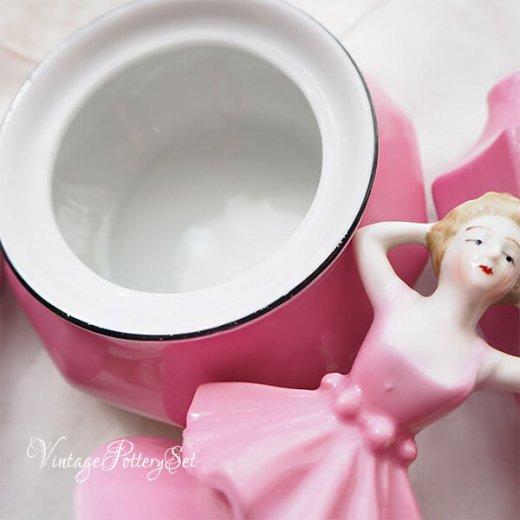 【送料無料】1950年代 ドイツ ヴィンテージ ガーリー フラワーベース 小物 陶器セット(Pottery set)【画像8】