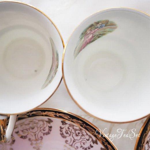 【送料無料】イギリス BONE CHINA ヴィンテージ ガーリー ティー ボーンチャイナ 陶器 10点セット【画像11】