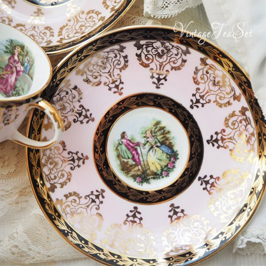 【送料無料】イギリス BONE CHINA ヴィンテージ ガーリー ティー ボーンチャイナ 陶器 10点セット【画像3】