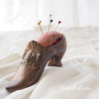 インテリア 小物 フランス 1920-30年代 フランス蚤の市より ヴィクトリアン アンティーク 靴型(真鍮 ピンクッション 手芸用品)