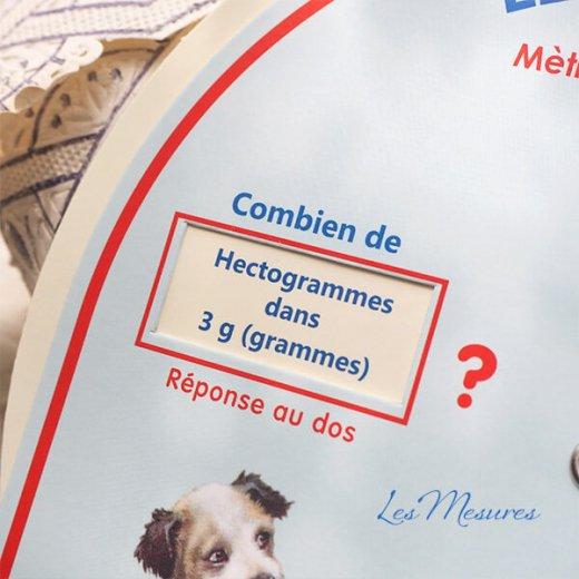 フランス製 勉強用ボード 勉強表(メートル リットル グラム単位変換)【画像11】