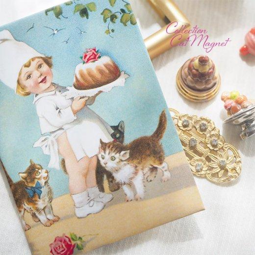 【単品販売】フランス直輸入!フランス製マグネット 猫モチーフ(クグロフ リボンほか)【画像5】
