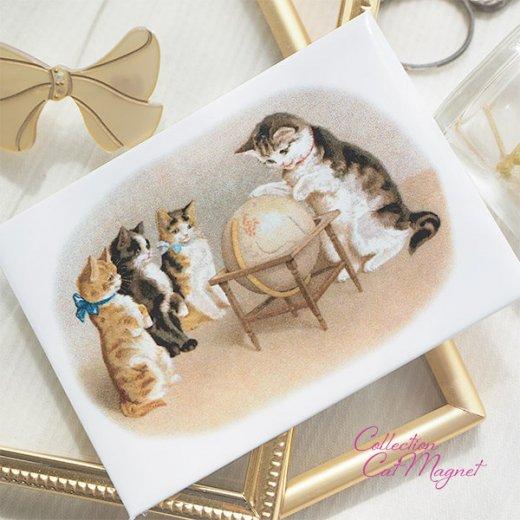 【単品販売】フランス直輸入!フランス製マグネット 猫モチーフ(クグロフ リボンほか)【画像6】