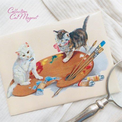 【単品販売】フランス直輸入!フランス製マグネット 猫モチーフ(クグロフ リボンほか)【画像7】