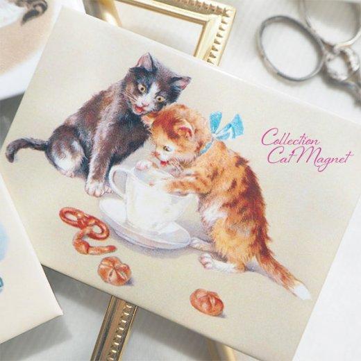 【単品販売】フランス直輸入!フランス製マグネット 猫モチーフ(クグロフ リボンほか)【画像8】