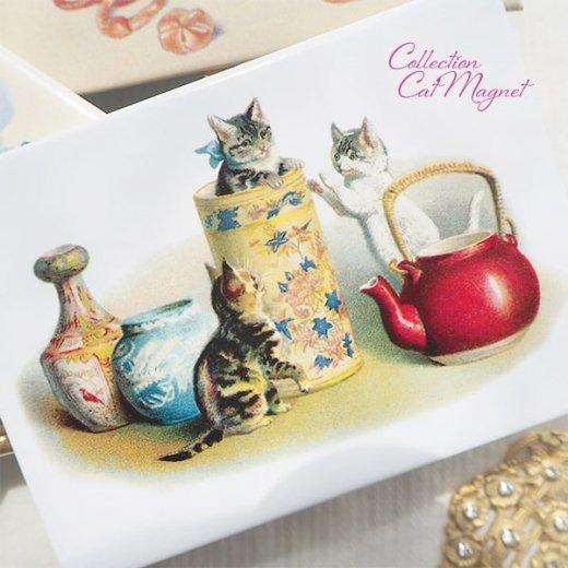 【単品販売】フランス直輸入!フランス製マグネット 猫モチーフ(クグロフ リボンほか)【画像9】