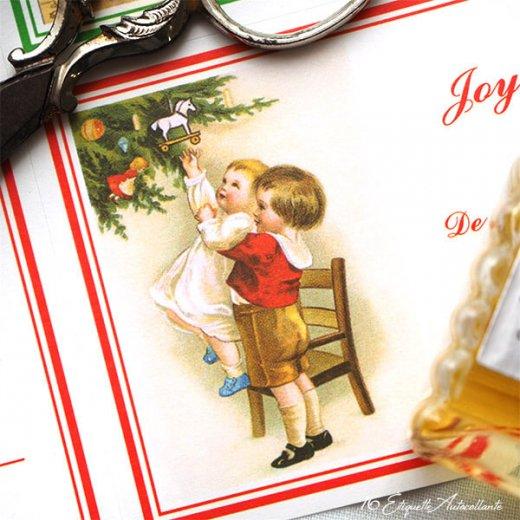 フランス ラベル シール ステッカー 16枚セット(No.13 クリスマス クリスマスツリー お手紙 Joyeux Noel )【画像6】