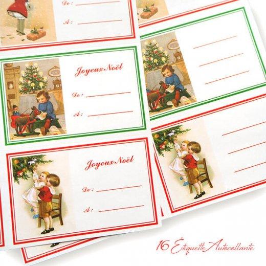フランス ラベル シール ステッカー 16枚セット(No.13 クリスマス クリスマスツリー お手紙 Joyeux Noel )【画像9】