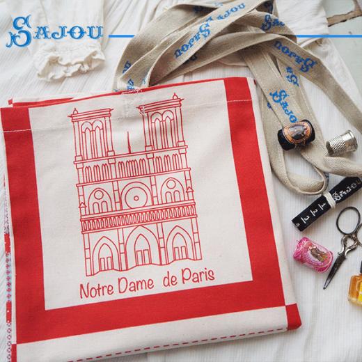 【単品販売】フランス製 SAJOU メゾン サジュー パリの街 エコバッグ トートバッグ ショルダーバッグ【Bシリーズ TOTE BAG SAJOU PLAID PARIS】【画像7】