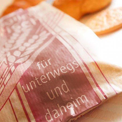 マルシェ袋 ドイツ 海外市場の紙袋( BROWN イラスト小麦)5枚セット【画像3】