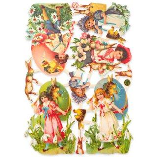 ドイツ クロモス【M】<復活祭・うさぎ 幼子 デイジー すずらん ひよこ カラフルエッグ>