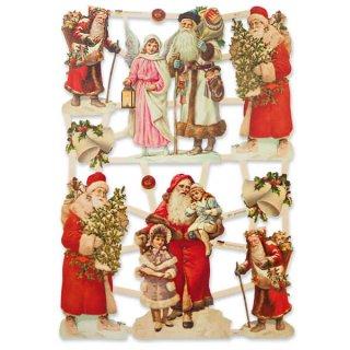 ドイツ クロモス【M】サンタクロース 天使 幼子 クリスマスツリー クリスマスプレゼント 幸福のベル